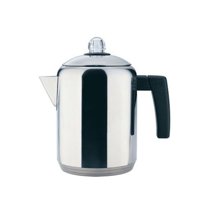 4- to 8-Cup Polished Stainless Steel Stovetop Percolator, 1.5 Quart - OPEN BOX