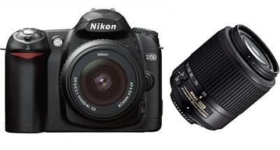 D50 Digital SLR Camera w/ 18-55mm and 55-200mm AF-S DX Zoom-Nikkor Lenses