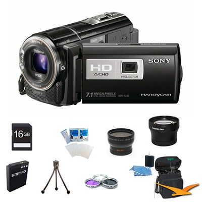 HDR-PJ30V Handycam 32GB Full HD Camcorder w/ Projector and GPS Ultimate Bundle