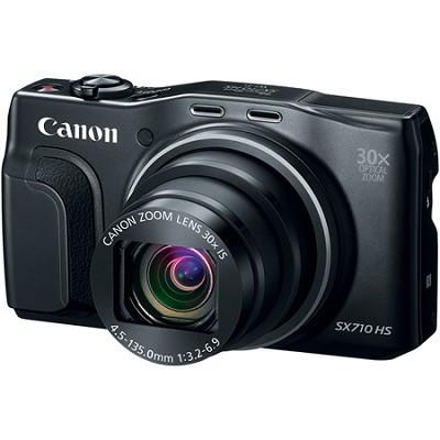 PowerShot SX710 HS 20.3MP 30x Opt Zoom HD 1080p Digital Camera - Black