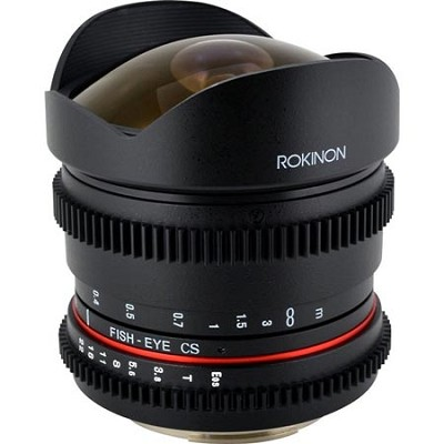 8mm T3.8 Ultra Wide Fisheye Lens for Nikon Mount