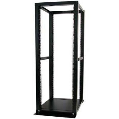 42U Adjustable 4 Post Open Server Equipment Rack Cabinet - 4POSTRACKBK