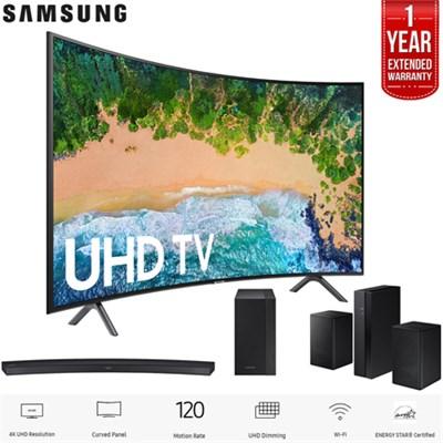 65` Curved Smart 4K UHD TV 2018 Model + Sound Bar & Warranty Bundle