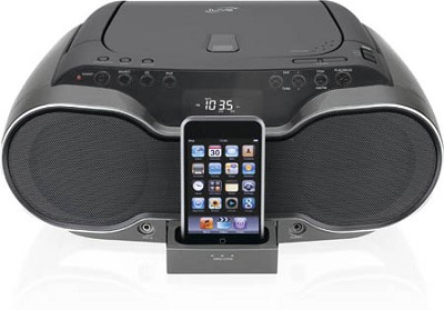 Portable Music System / Boom Box with CD Player and iPod Docking and Recharging