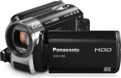 SDR-H90K Camcorder with 70X Zoom and 80GB HDD (Black)