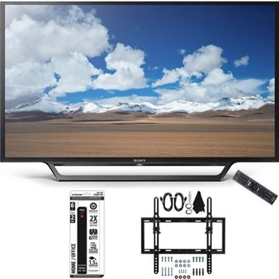 KDL-32W600D 32-Inch Class HD TV w/ Built-in Wi-Fi Flat + Tilt Wall Mount Bundle