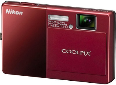 COOLPIX S70 12MP 3.5 inch Touchscreen Digital Camera (Red)