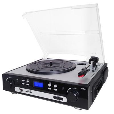 Retro Turntable System with Analog Conversion - SC-8000TR