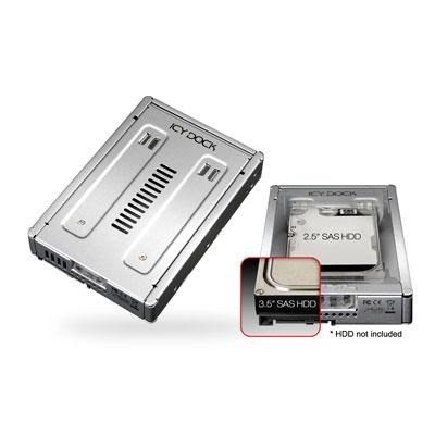 Full Metal 2.5` to 3.5` SAS HDD and SSD Converter/Mounting Kit - MB982IP-1S-1