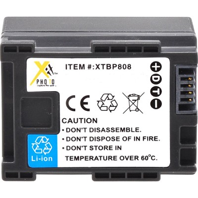 BP-808 Lithium Ion Battery Pack for Canon FS Series Camcorders