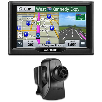 nuvi 58 5` Essential Series 2015 GPS System US & Canada Vent Mount Bundle