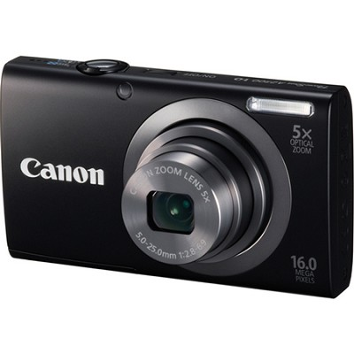 PowerShot A2300 16MP Black Digital Camera 5x Optical Zoom 720p HD Video