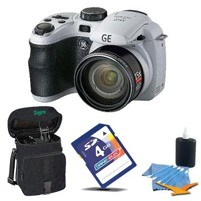 GE Power Pro X500-WH 16 MP 4GB Camera Bundle (White)