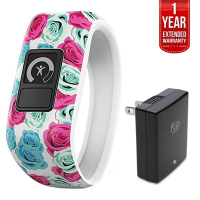 Vivofit Jr. Activity Tracker for Kids Real Flower with Charger + Warranty