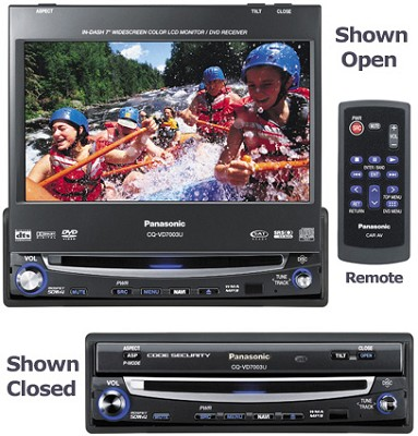 CQ-VD7005U In-dash DVD player with 7` LCD w/ AM/FM Tuner and MP3/WMA Playback
