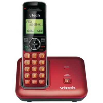 Digital Cordless Phone Dect 6.0 - Red - OPEN BOX