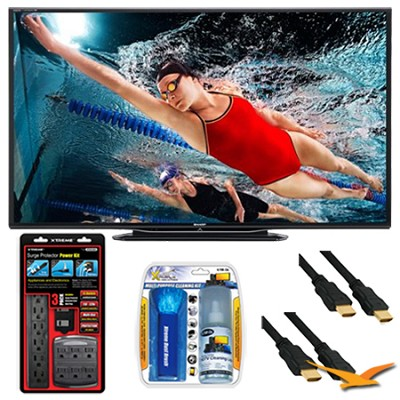 LC-60LE757U Aquos 60-Inch 3D Wifi 240Hz 1080p LED TV Plus Surge Protector Bundle