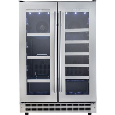 Silhouette Professional 24` French Door Beverage Center - DBC047D3BSSPR