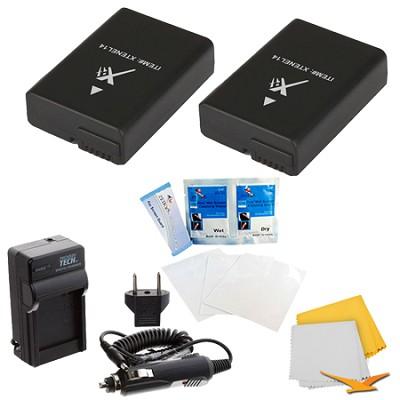 2 Pack Battery Kit For Nikon P7000, P7100, P7700, D3300, D3200,D5100,D5200,D5300