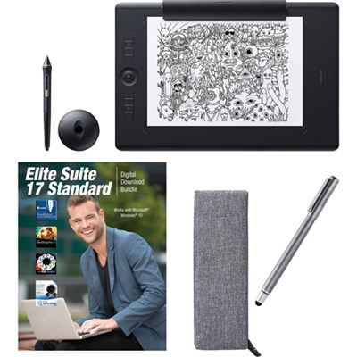 Intuos Pro Large Paper Bundle w/ Extra Stylus and Corel Suite 17