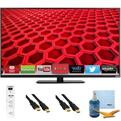 42-Inch Full-Array 1080p 120Hz LED Smart HDTV Plus Hook-Up Bundle (E420i-B0)