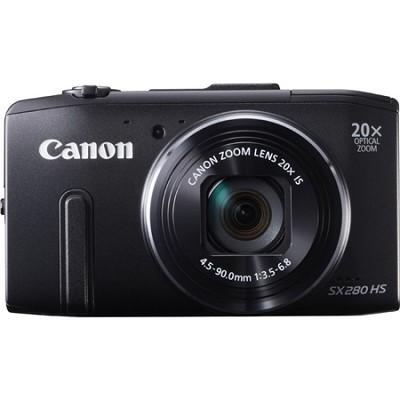PowerShot SX280 HS Black Digital Camera with 20x Opt. Zoom, 1080p Video, Wi-Fi