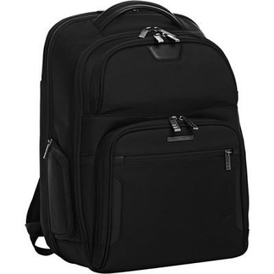 @ Work Large Clamshell Backpack - Black (KP375C)