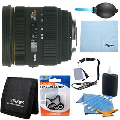 24-70mm F2.8 IF EX DG HSM Lens for Canon EOS - Pro Lens Kit