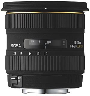 Super Wide Angle Zoom 10-20mm f/4-5.6 EX DC HSM AF Lens for Canon - OPEN BOX