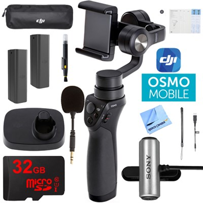 Osmo Mobile Gimbal Stabilizer for Smartphones 32GB Dual Battery and Mic Kit