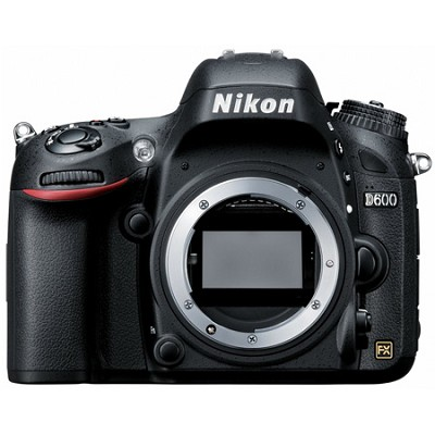 D600 24.3 Megapixel Full Frame DSLR Camera Body