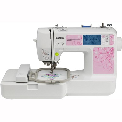PE500 4x4 Embroidery Machine, 67 Built-in Stitches, 70 Built-in Designs, 5 Fonts