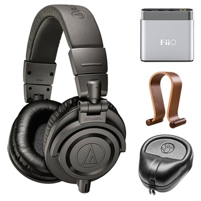 Professional Studio Monitor Headphones w/ Amplifier Bundle