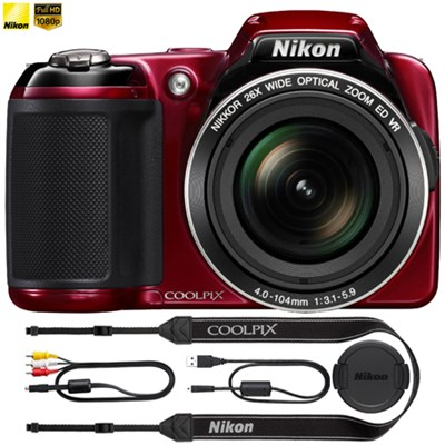 COOLPIX L810 16.1 MP 3` LCD Digital Camera - Red - (Certified Refurbished)