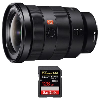 FE 16-35mm F2.8 GM Wide-angle Zoom Lens w/ Sandisk 128GB Memory Card