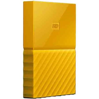 WD 1TB My Passport Portable Hard Drive - Yellow
