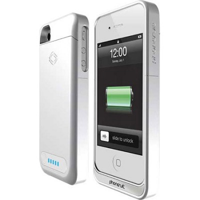 PS-ELITE-IP4-B Elite Battery Case for iPhone 4 and 4S (White)