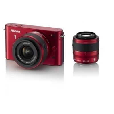 1 J1 Compact DSLR Kit w/ 10-30mm & 30-110mm Lenses {Red} (Refurbished)