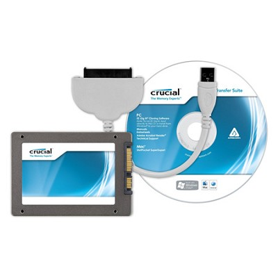 128GB m4 SSD 2.5` SATA 6Gb/s Solid-State Drive with Data Transfer Kit