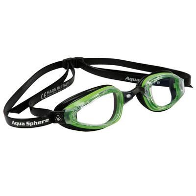K180+ Swim Goggles with Clear Lens and Green/Black Frame - 173090