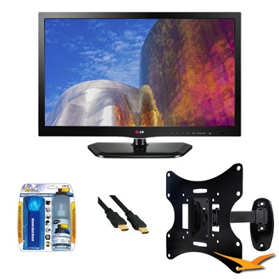 26LN4500 26 Inch TV 720p 60Hz EDGE LED HDTV Mount Bundle