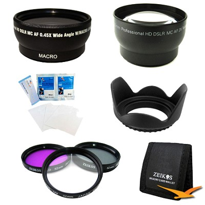 ULTIMATE 52MM WIDE ANGLE/TELEPHOTO LENS KIT