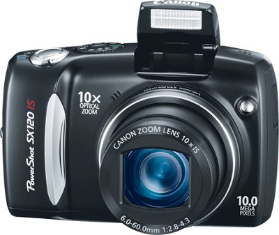 Powershot SX120 IS 10MP Digital Camera (Black) - REFURBISHED