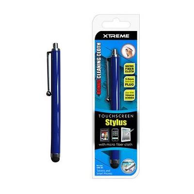 Basic Touch Screen Stylus w/ Micro Fiber Cloth Blue