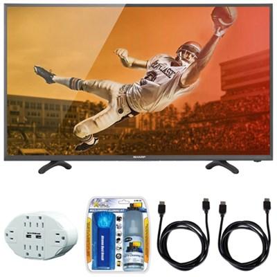 Aquos N3100 Full HD 50` Class 1080p 60Hz LED TV 50N3100U w/ Hook up Bundle