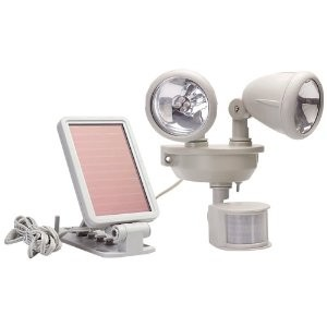 40217 Solar-Powered Motion-Activated 14 LED Security Spotlight