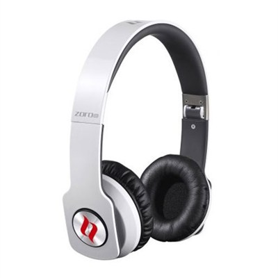 ZORO HD True Sound Headphones with Inline Mic and Answer  White - OPEN BOX