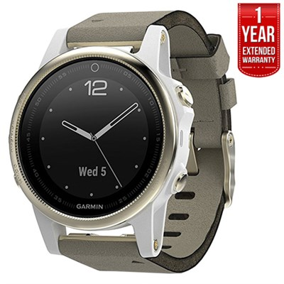 Fenix 5S Sapphire Multisport GPS Watch Champagne Gray +1Year Extended Warranty