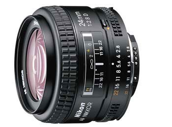 AF FX Full Frame NIKKOR 24mm f/2.8D Fixed Zoom Lens with Auto Focus