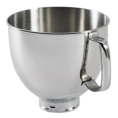 5-Quart Tilt-Head Polished Stainless Steel Bowl with Handle - K5THSBP
